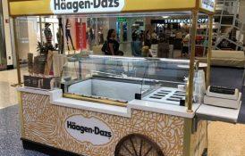 Ice Cream Scooping Cart Mall Kiosk