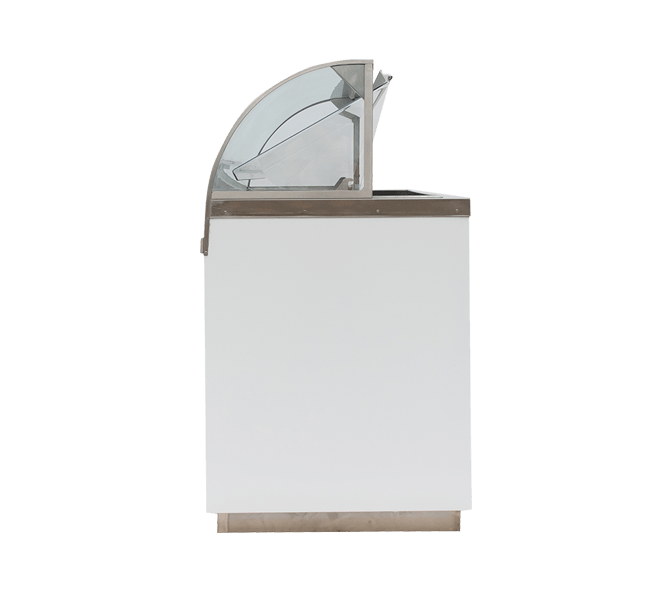Visual Dipping Cabinet Curved Glass